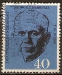 Sellos de Europa - Alemania -  1 muerte Aniv del general George C. Marshall.