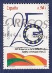 Stamps Spain -  Edifil 4574 XXV Aniv. Adhesión a la CEE 0,34