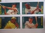 Sellos de America - Estados Unidos -  Los logros de los 4 grandes del BéisbJoe DiMaggio,Larry Doby,Willie Stargell y Ted Willams.