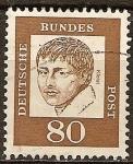 Sellos del Mundo : Europa : Alemania : Heinrich von Kleist (1777-1811), poeta.