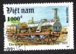 Sellos de Asia - Vietnam -  Locomotora