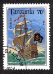 Stamps Tanzania -  Barco