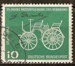 Sellos de Europa - Alemania -  75a Aniv de Daimler-Benz el transporte motorizado,1886-1961.