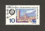 Stamps Germany -  20 Aniv. de la DDR