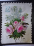 Stamps United States -  Rosa - Ramo de Flores