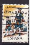 Stamps Spain -  Oficial rgto. Real de artilleria 1710
