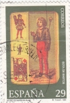 Stamps Spain -  MUSEO DEL NAIPE  DE ALAVA- sota de bastos (11)