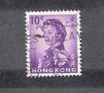 Sellos de Asia - Hong Kong -  Reina Isabel II segun Pietro Annigoni