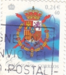 Stamps Spain -  ESCUDO REAL (11)