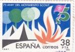 Sellos de Europa - España -  75 ANIVERSARIO DEL MOVIMIENTO SCOUT (11)