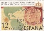 Sellos de Europa - España -  (11)PRIMER VIAJE AL CONTINENTE AMERICANO DE SS.MM. JUAN CARLOS I Y SOFIA