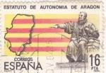 Stamps Spain -  ESTATUTO DE AUTONOMÍA DE ARAGÓN  (11)