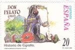 Stamps Spain -  HISTORIA DE ESPAÑA- DON PELAYO (11)