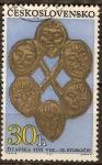 Sellos de Europa - Checoslovaquia -  Descubrimientos arqueológicos en Bohemia y Eslovaquia (siglo 6 al 8).
