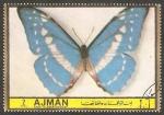 Stamps United Arab Emirates -  Ajman - Mariposa