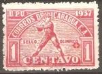 Stamps : America : Nicaragua :  JUEGOS  CENTROAMERICANOS  Y  DEL  CARIBE.  JUGADOR  DE  BASE  BALL