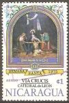 Stamps Nicaragua -  VÌA  CRUSIS.  JESÙS  BAJADO  DE  LA  CRUZ.