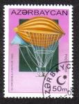 Stamps Azerbaijan -  PRIMER DIRIGIBLE MOTOR (1909)