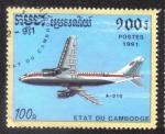 Sellos del Mundo : Asia : Camboya : Airbus A-310