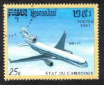 Stamps Cambodia -  McDonnell Douglas MD-11