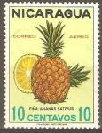 Stamps Nicaragua -  FRUTAS.  PIÑA.