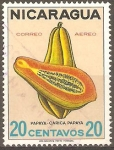 Sellos de America - Nicaragua -  FRUTAS.  PAPAYA.