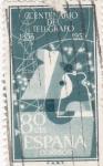 Sellos de Europa - España -  CENTENARIO DEL TELEGRAGO 1855-1955 (11)