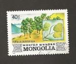 Sellos de Asia - Mongolia -  Chopo Populus diversifolia
