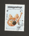 Sellos de Asia - Camboya -  XXII Juegos Olimpicos Los Angeles