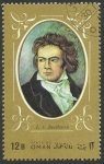 Stamps Asia - Oman -  Beethoven