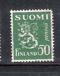 Sellos de Europa - Finlandia -  Serie básica: Escudo de armas de la República