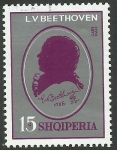 Stamps : Europe : Albania :  Beethoven