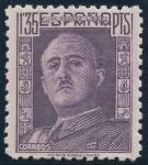 Stamps Spain -  ESPAÑA 1001 GENERAL FRANCO, DE FRENTE