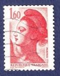 Stamps France -  FRA Yvert 2187 Liberté 1,60 rojo