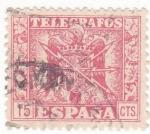 Stamps Spain -  SELLO DE TELÉGRAFOS (11)