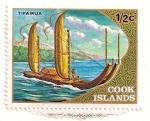 Stamps Oceania - Polynesia -  Canoa