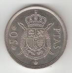 monedas del Mundo : Europa : España :  50 ptas Juan Carlos I 1975 (*1980) EBC