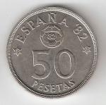 monedas del Mundo : Europa : España :  50 ptas Juan Carlos I 1980 (*1982) EBC