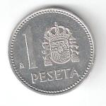 monedas del Mundo : Europa : España :  1 pta Juan Carlos I 1983 (*M) EBC