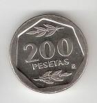 monedas del Mundo : Europa : España :  200 ptas Juan Carlos I 1986