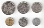 monedas del Mundo : Europa : España :  Lote 6 monedas Mundial de Fútbol España