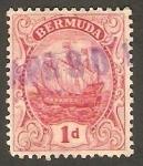Stamps : America : Bermuda :  Gran Velero