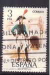 Stamps Spain -  coronel de infant. de Linea 1802