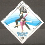 Stamps Hungary -  13th  JUEGOS  OLÌMPICOS  DE  INVIERNO  LAKE  PLACID,  NY.  PATINAJE  ARTÌSTICO.