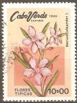 Sellos de Africa - Cabo Verde -  FLORES  TÌPICAS.  NERIUM  OLEANDER.
