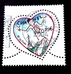Stamps : Europe : France :  Corazón de Chanel