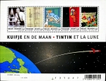 Stamps : Europe : Belgium :  Tintín en la luna
