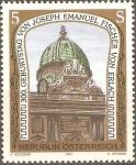 Sellos de Europa - Austria -  ESTATUAS  Y  CÙPULA  PALACIO  IMPERIAL,  VIENA.  DISEÑADO  POR  JOSEPH  EMANUEL  FISCHER  v.  ERLACH