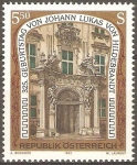 Sellos de Oceania - Austria -  PALACIO  KINSKI.  DISEÑADO  POR  LUKAS  von  HILDEBRANDT.