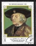 Sellos del Mundo : Asia : Emiratos_Árabes_Unidos : Ajman, El Emperador Maximiliano I, 1519